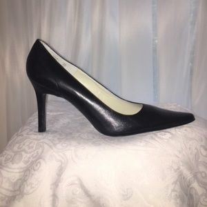 "Calvin Klein ""Lucia""  Black Leather Pumps"